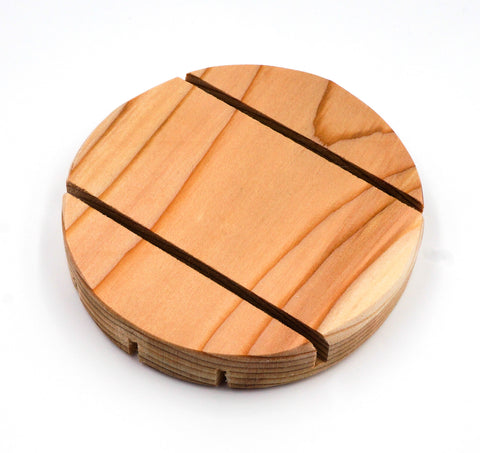 Soap Dish - Cedar - Round-more