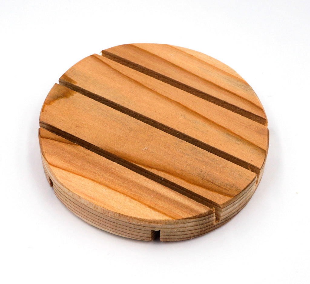 soap dish, round, front
