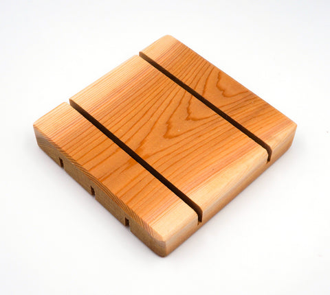 Soap Dish - Cedar - Square-more