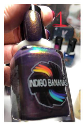 This Shift is Bananas - dark purple UP shimmer ('unicorn pee')