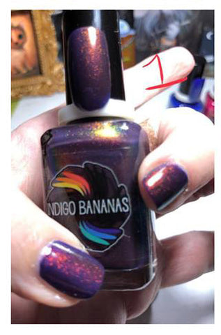 This Shift is Bananas - dark purple UP shimmer ('unicorn pee')-more