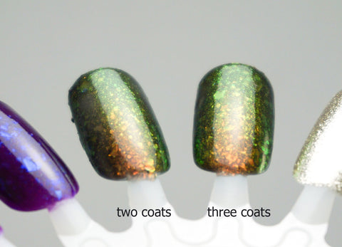 "FWAYGO - colorshifting shimmer red to green (""u.p."")"