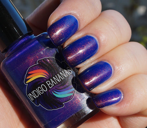 Blue Rose - blue/periwinkle/purple thermal multichrome shimmer ('unicorn pee')