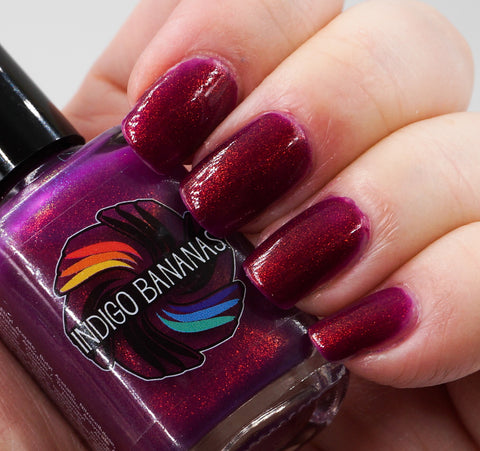 Cherry Pie - red/magenta/purple thermal multichrome shimmer ('unicorn pee')-more