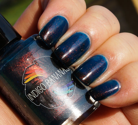 Dark Star (D) - blackened teal UP shimmer ('unicorn pee')-more