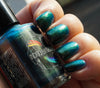 Dark Star (D) - blackened teal UP shimmer ('unicorn pee')