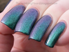 Anansi - green/purple multichrome glass fleck