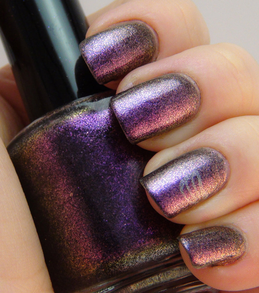 Wednesday - purple/pink/gold multichrome glass fleck