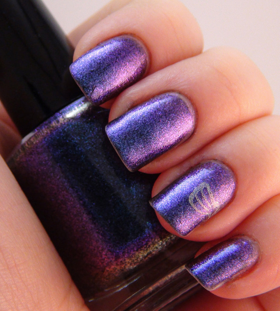 Shadow - blue/purple multichrome glass fleck
