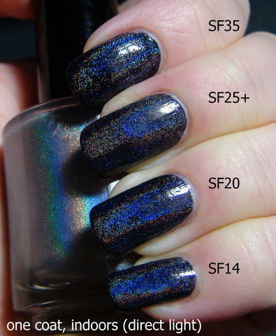 Linear Holographic Top Coat - four kinds