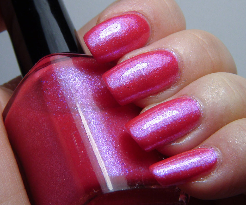 Twice as Bright - hot pink, blue glass fleck duochrome shimmer