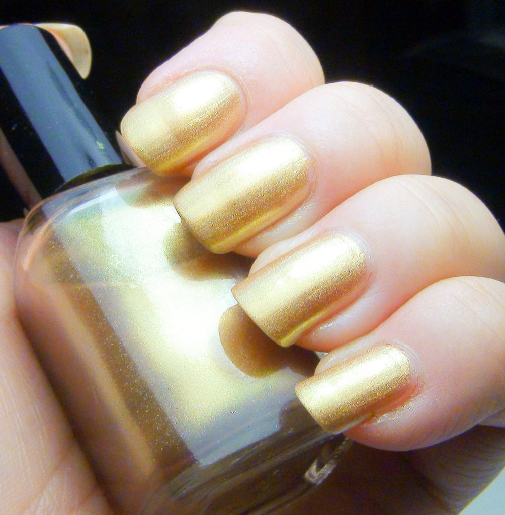 Suneater - bright gold / pale golden green holographic