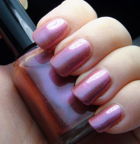 Dream a Little Dream - pink/violet/reddish orange multichrome holographic