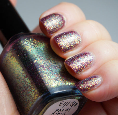 2% Butterscotch Ripple  - plum base & colorshifting glitter