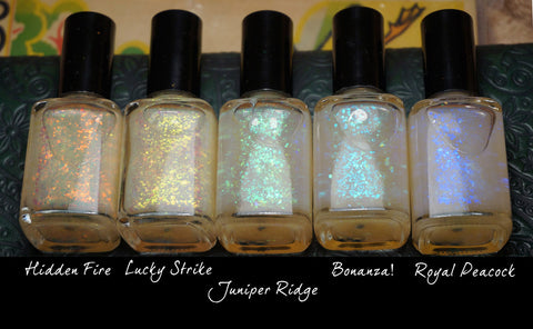 Mega Flakies - colorshifting flakie top coats (glowing-type flakies)-more