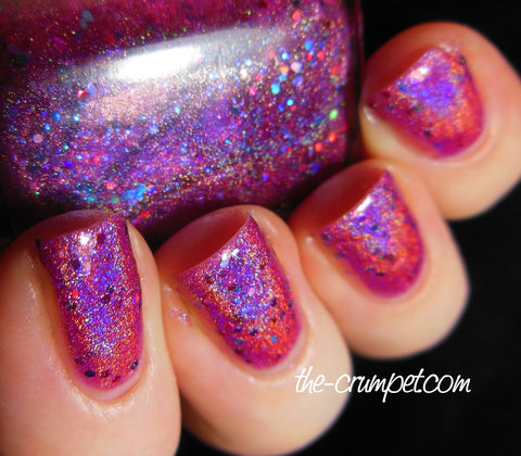 Hot Ice Creams for Cold Days  - fuchsia/pink linear holographic & glitter-more