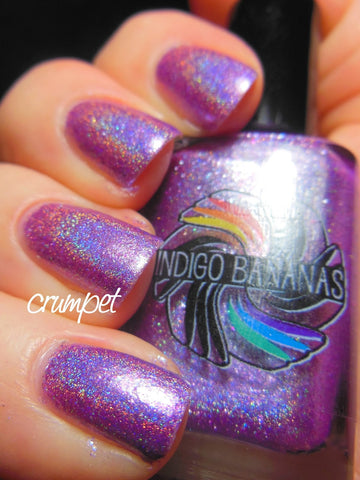 Wise Up, Janet! - lavender/lilac linear holographic