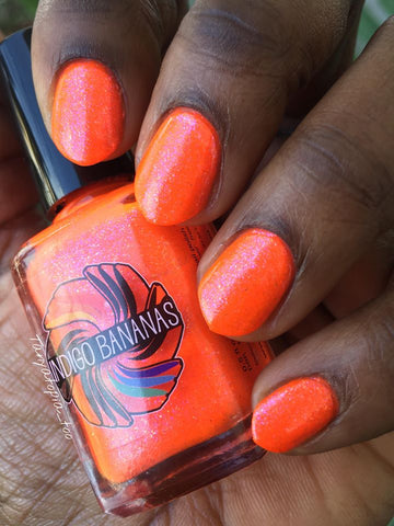 Springtime in Antelope Valley - neon orange glass fleck / multicolor shimmer - OYGTBH custom