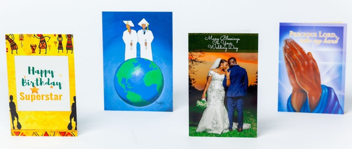 "01- All Occasion Afrocentric Greeting Cards - Starter ""Inspiration"""
