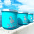 Bright blue custom candles that Bella Laine made for 22&Co, a Key West business
