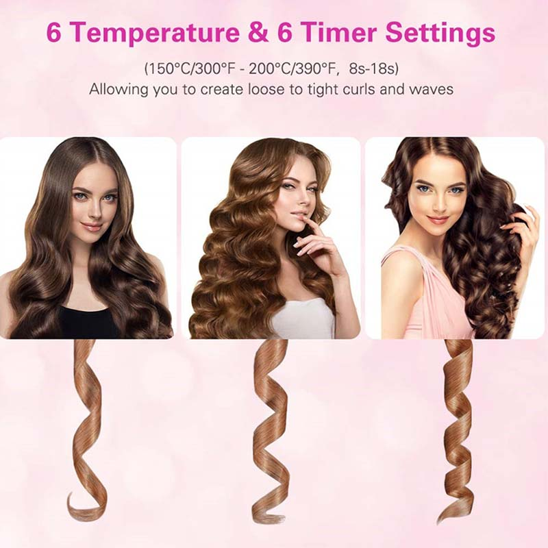 🔥$19.99 🔥 Auto Rotating Ceramic Hair Curler  AND 20% OFF For  Two