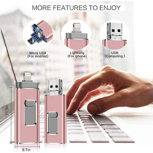 Portable USB Flash Drive for iPhone, iPad & Android - 💥50% OFF - Early Spring Promotion