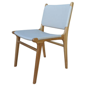Salawin Leather/Teak Dining Chair