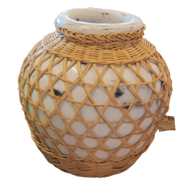 Decor Pot- Rattan Weave