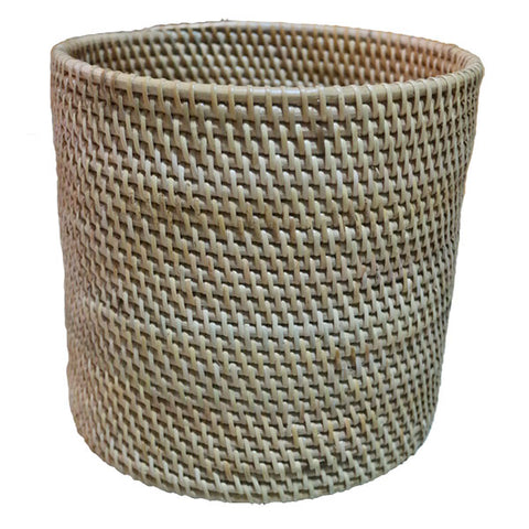 Rattan Dustbin- Bed & Bath