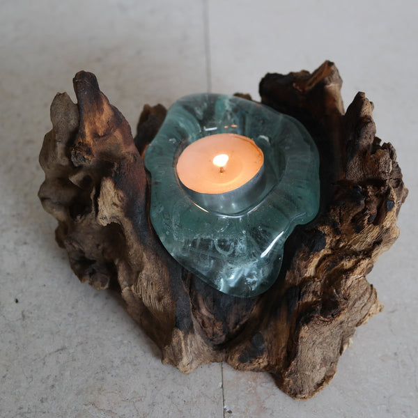 Tea Light-Root Wood