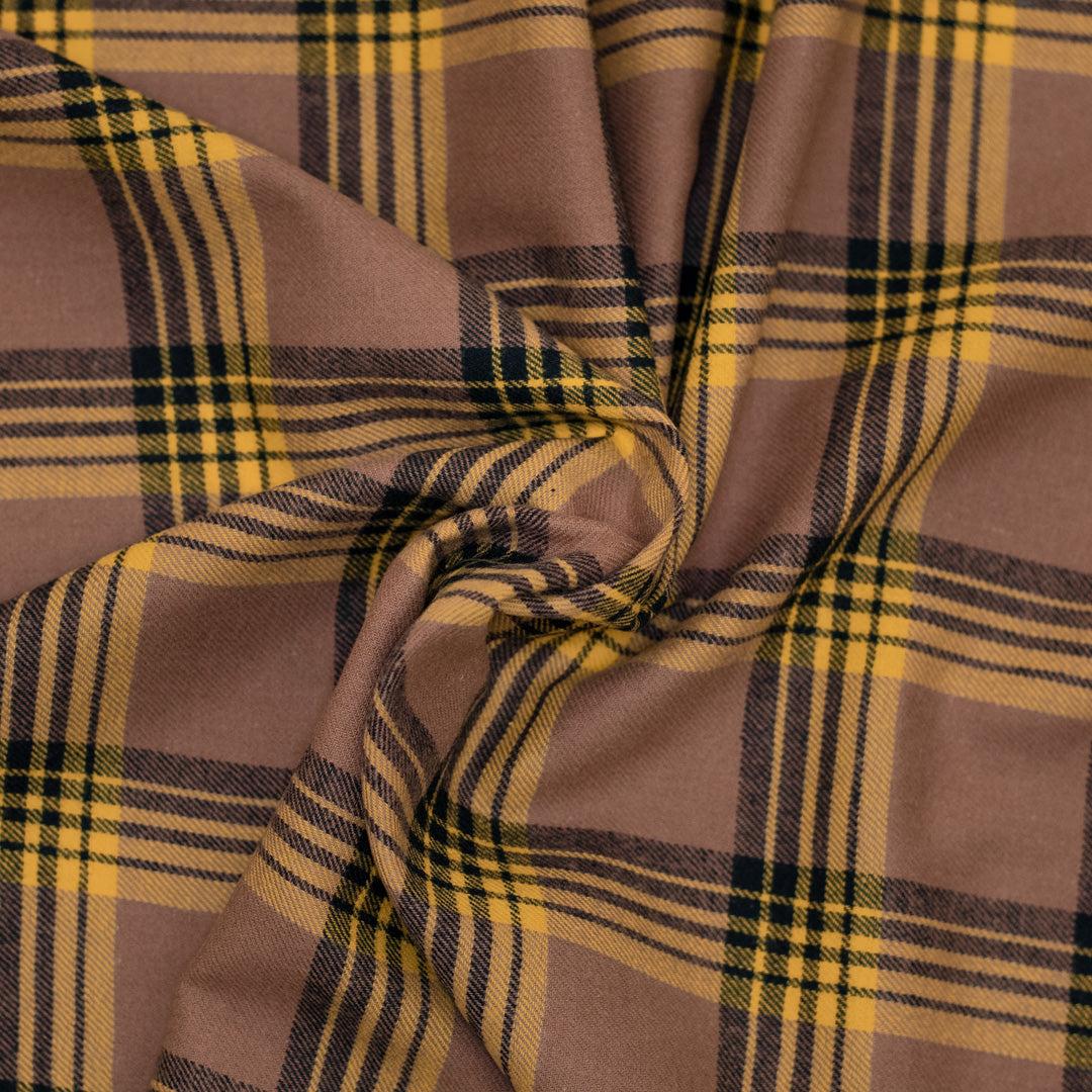 Fall Peach / Yellow / Black Plaid