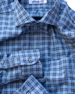 Light Blue Plaid Flannel