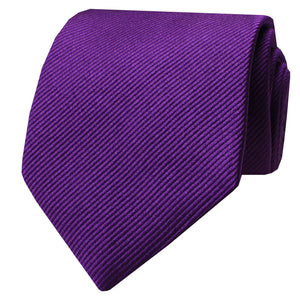 Purple Woven Diagonal Twill Tie