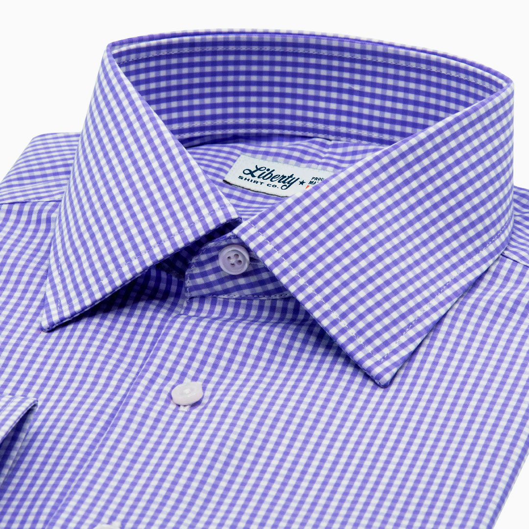 Purple Mini Gingham Broadcloth