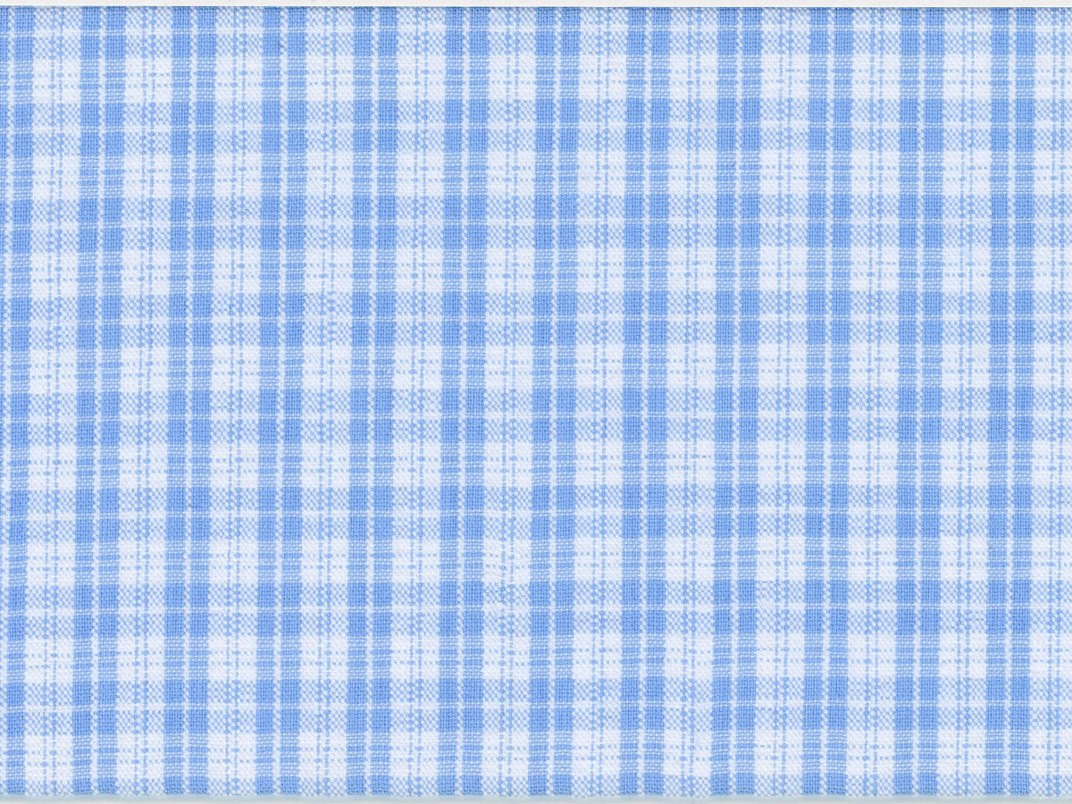 Light Blue Seersucker Check