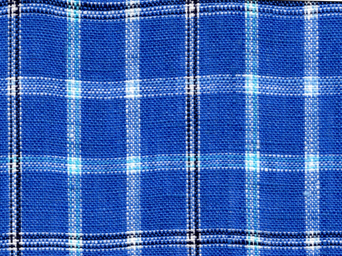 Blue Plaid Linen