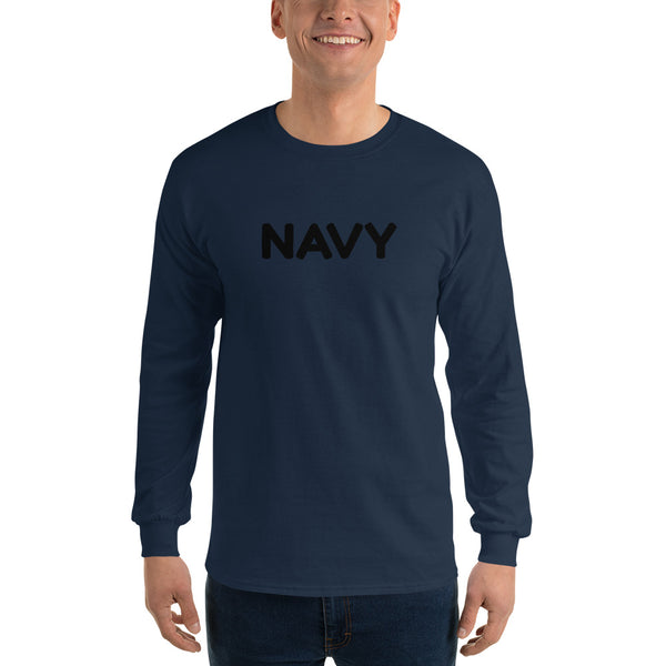 Navy - Long Sleeve T-Shirt