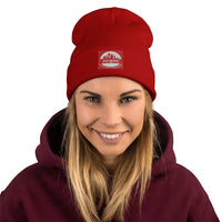 Beanie - Red, 35P@RK, Embroidered