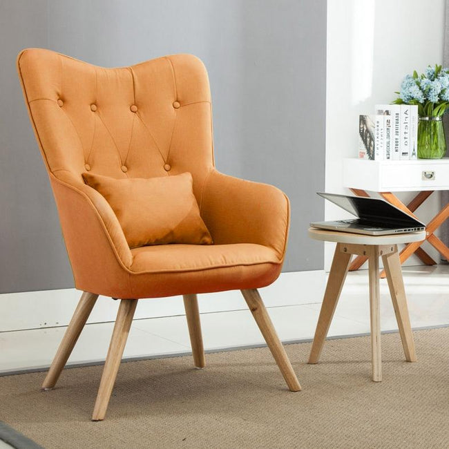 Wingback Dining Chair Linen Diamond Tufted Wingback Chairs Ahoneybadger