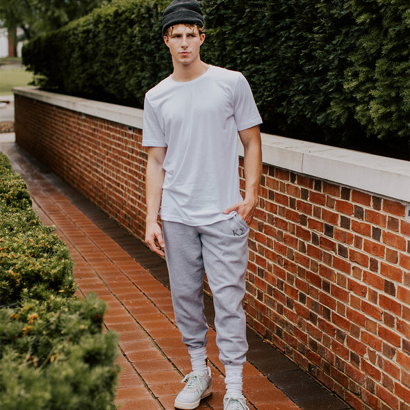 New! Kappa Sig Heather Grey Contrast Joggers