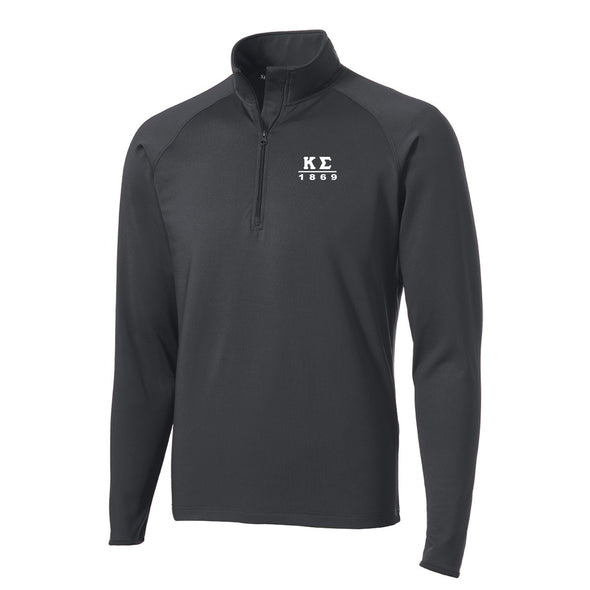 Kappa Sig Charcoal Performance Essential Quarter-Zip Pullover