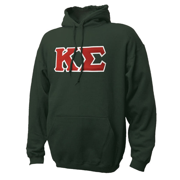 Kappa Sig Forest Hoodie with Sewn On Letters