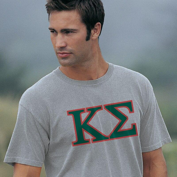 Kappa Sig Heather Gray Greek Letter Tee