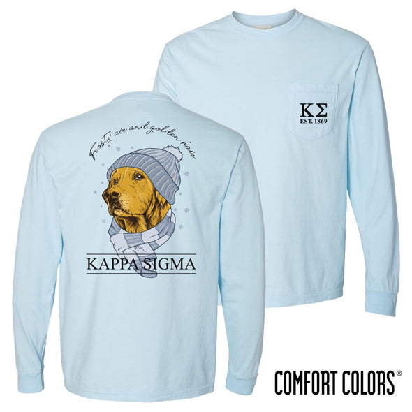 Kappa Sigma Comfort Colors Winter Retriever Tee