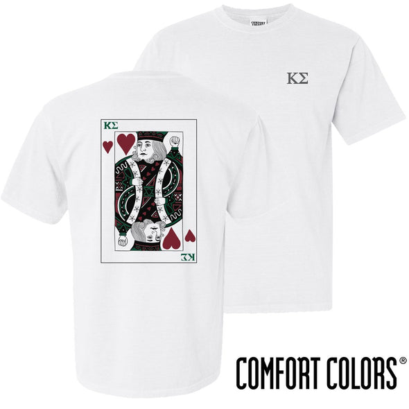 Kappa Sig Comfort Colors White King of Hearts Short Sleeve Tee