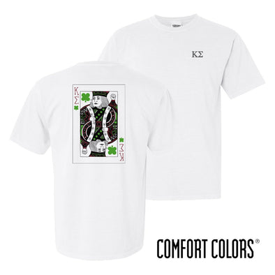 Kappa Sig Comfort Colors White Short Sleeve Clover Tee