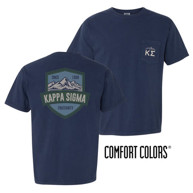 Kappa Sig Comfort Colors Mountain Pocket Tee