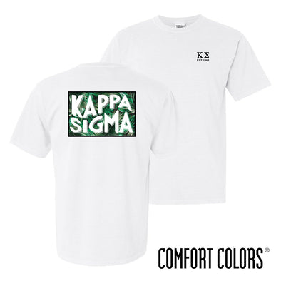 Kappa Sig Comfort Colors White Short Sleeve Jungle Tee