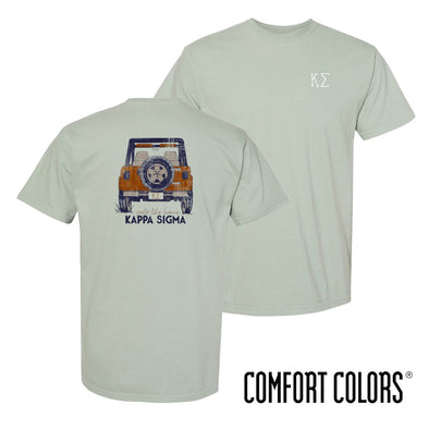 Kappa Sig Comfort Colors Short Sleeve Jeep Tee