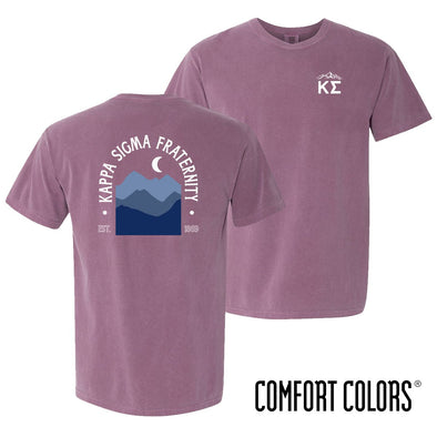 New! Kappa Sig Comfort Colors Short Sleeve Berry Exploration Tee